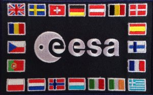 ESA Flag Patch mit 20 Flaggen
