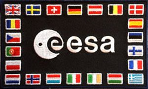 ESA Flag Patch mit 22 Flaggen