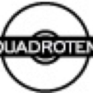Logo der Quadrotem Werbeagentur in Nahaufnahme und Schwarz-weiss